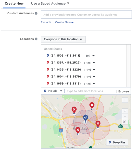 geofencing facebook ads audience