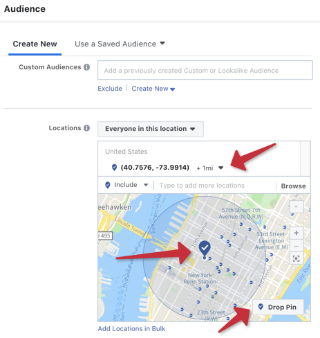 facebook ads geofence audience